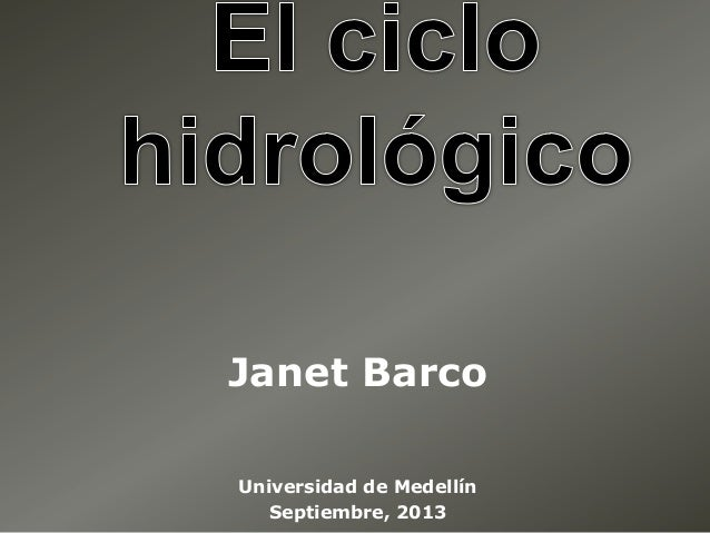 Janet Barco Universidad de Medellín Septiembre, 2013
