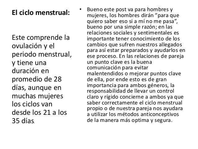 """• Bueno este post va para hombres yEl ciclo menstrual:     mujeres, los hombres dirán """"para que                        qui..."""
