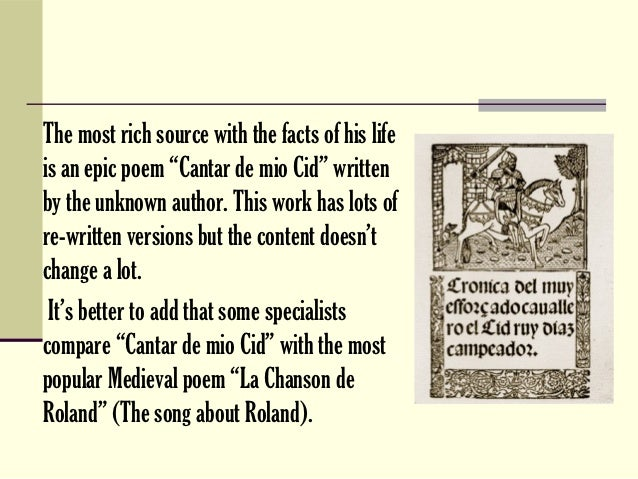 Presentation About El Cid Spanish National Hero