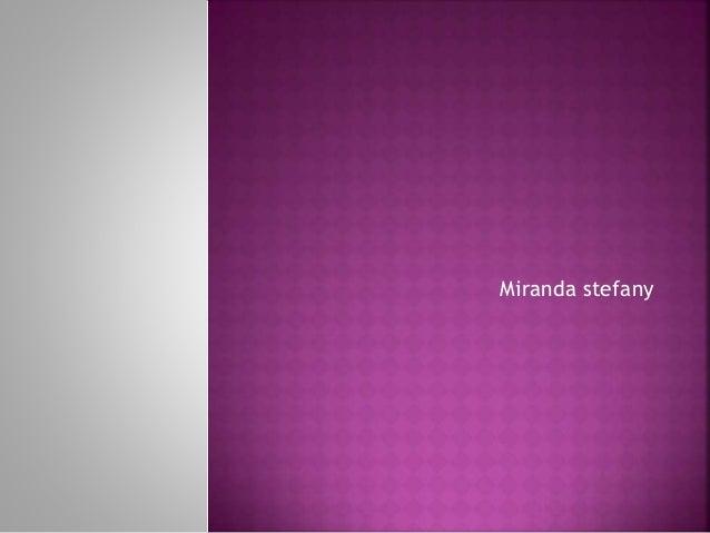 Miranda stefany
