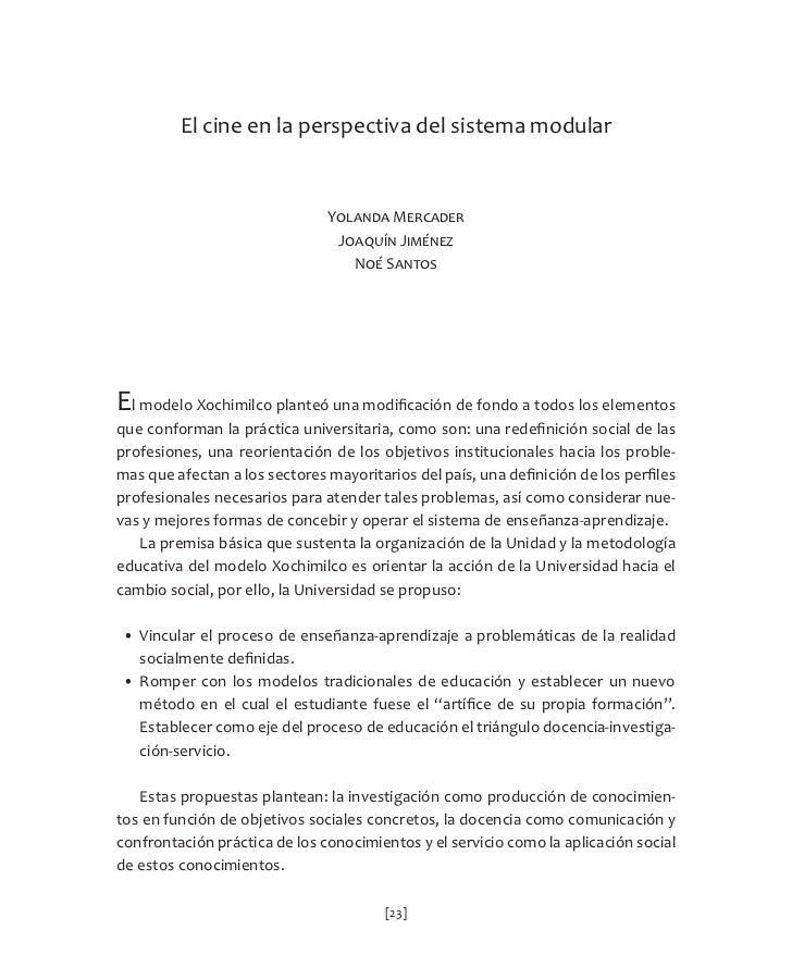 El cine en la perspectiva del sistema modularEprofesiones,  una  reorientación  de  los  objetivos  instituci...