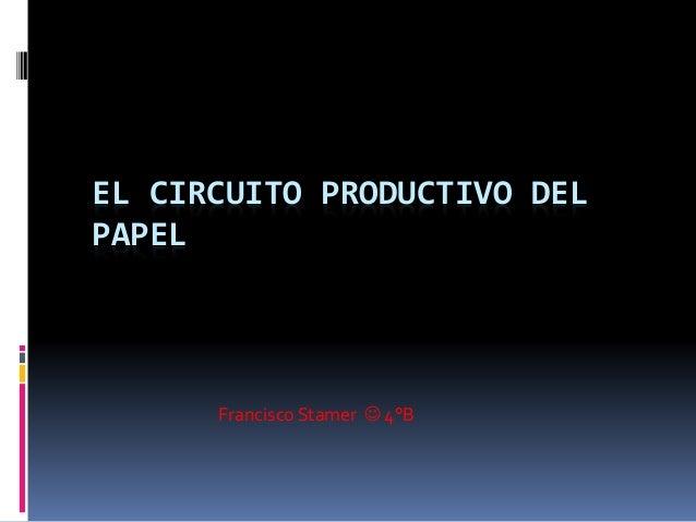 Circuito Productivo Del Tomate : El circuito productivo del papel
