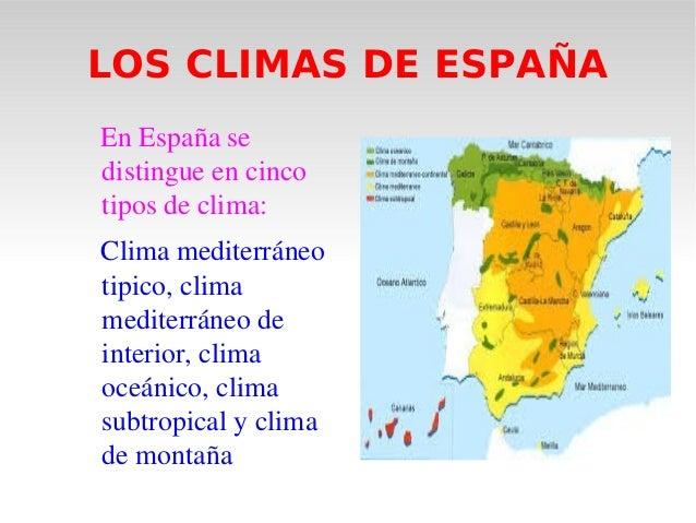 El clima for Clima mediterraneo de interior