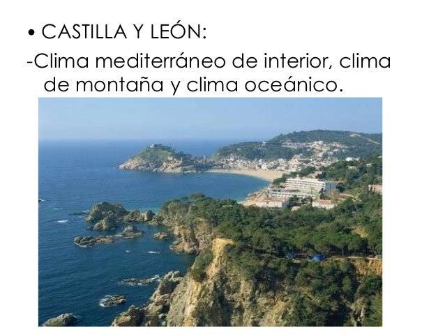 El clima de espa a for Clima mediterraneo de interior