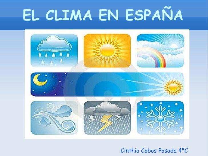 EL CLIMA EN ESPAÑA Cinthia Cobos Posada 4ºC