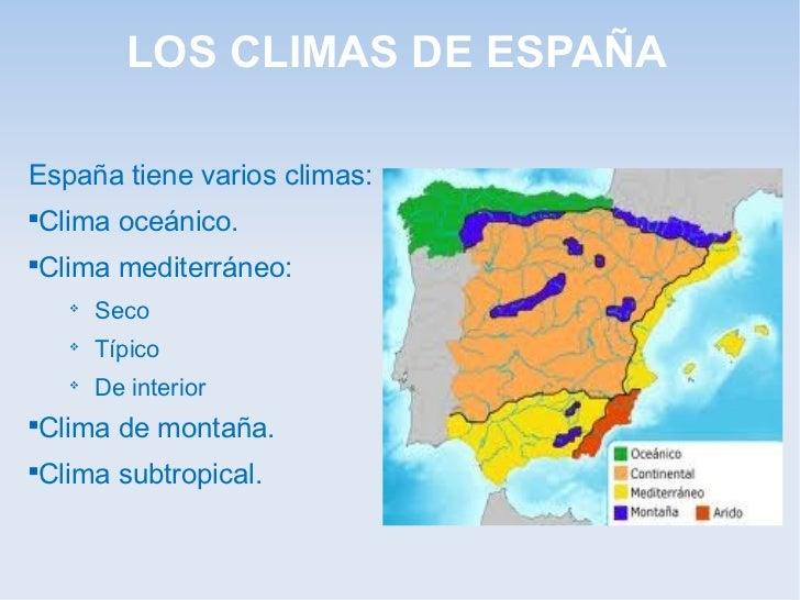 El clima y los r os de espa a alicia for Clima mediterraneo de interior