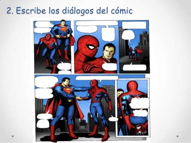 2. Escribe los diálogos del cómic