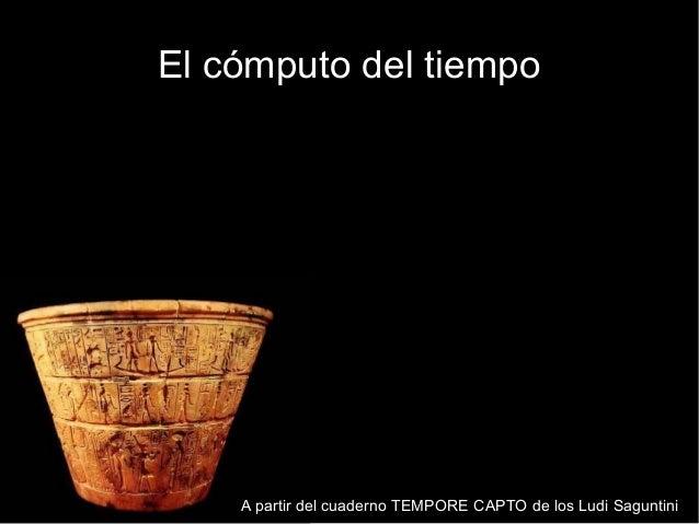 El cómputo del tiempo    A partir del cuaderno TEMPORE CAPTO de los Ludi Saguntini