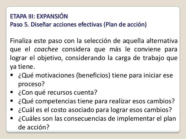 ETAPA III: EXPANSIÓNPaso 5. Diseñar acciones efectivas (Plan de acción)Finaliza este paso con la selección de aquella alte...