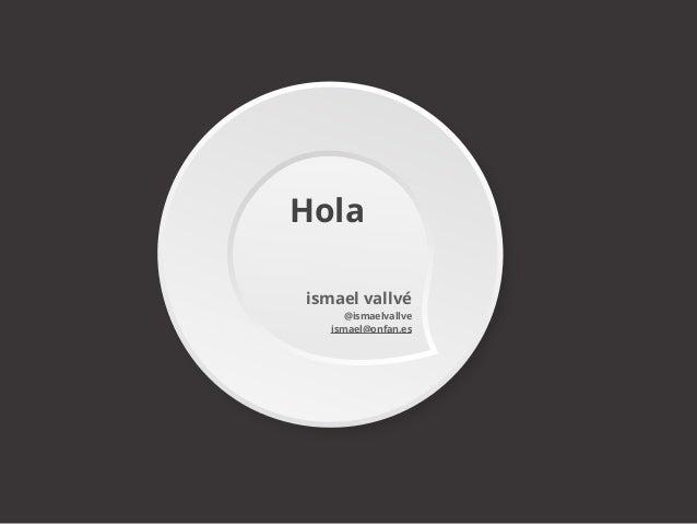 Hola ismael vallvé @ismaelvallve ismael@onfan.es