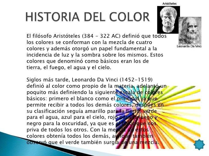    El color nos produce    sensaciones, sentimientos, transmite    mensajes a través de códigos universales, nos    expre...