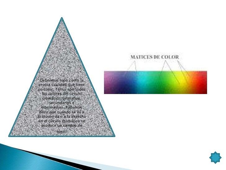 VALOR.Cuando a cada uno de los colores o tonos delcírculo cromático los mezclamos con blancopara ganar luminosidad o con e...