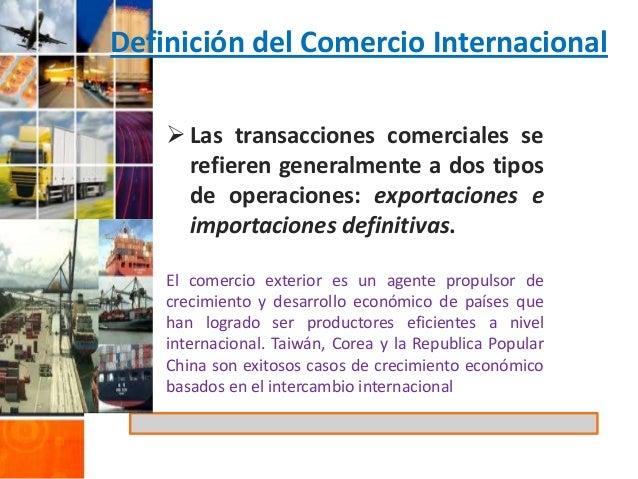 El comercio internacional khipu for Definicion exterior