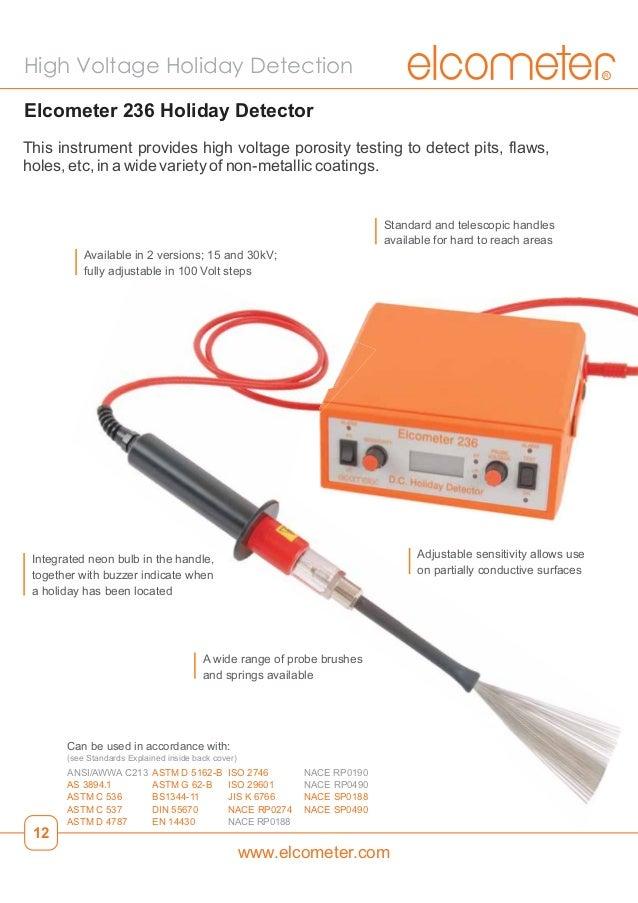 Elcometer 266 Pinhole Porosity Holiday Detectors Dc