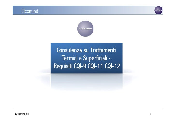 Elcomind                              /TS                 Consulenza su Trattamenti                   Termici e Superficia...