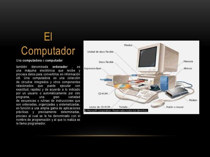 El computador Slide 2