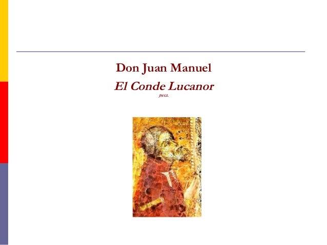 Don Juan Manuel  El Conde Lucanor  JMGL