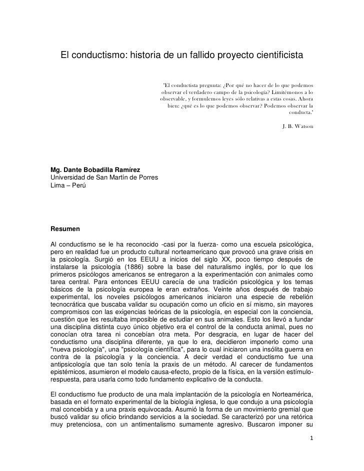 """El conductismo: historia de un fallido proyecto cientificista                                        """"El conductista pregu..."""
