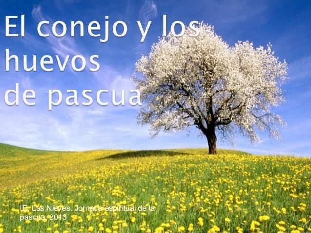 IE. Las Nieves. Jornada espiritual de lapascua. 2013