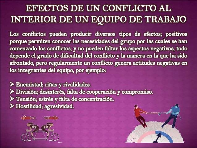 El conflicto y los equipos de trabajo