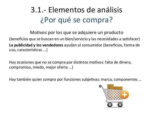 3.1.-‐  Elementos  de  análisis   ¿Por  qué  se  compra?      MoEvos  por  los  que  se  adqu...