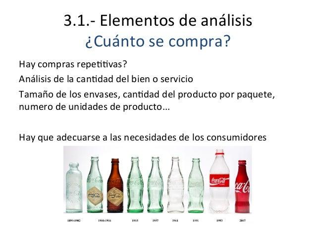 3.1.-‐  Elementos  de  análisis   ¿Cuánto  se  compra?   Hay  compras  repeEEvas?   Análisis  de  ...