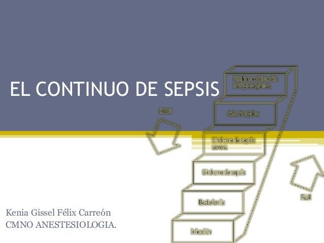 EL CONTINUO DE SEPSIS  Kenia Gissel Félix Carreón  CMNO ANESTESIOLOGIA.