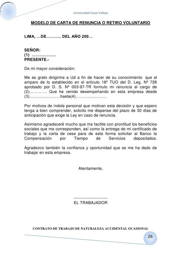 Carta de preaviso de no renovacion contrato laboral por el for Modelo contrato laboral