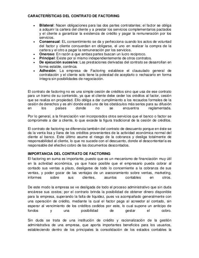 El contrato de factoring Slide 2