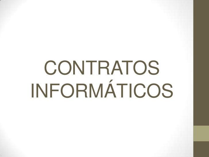 CONTRATOSINFORMÁTICOS