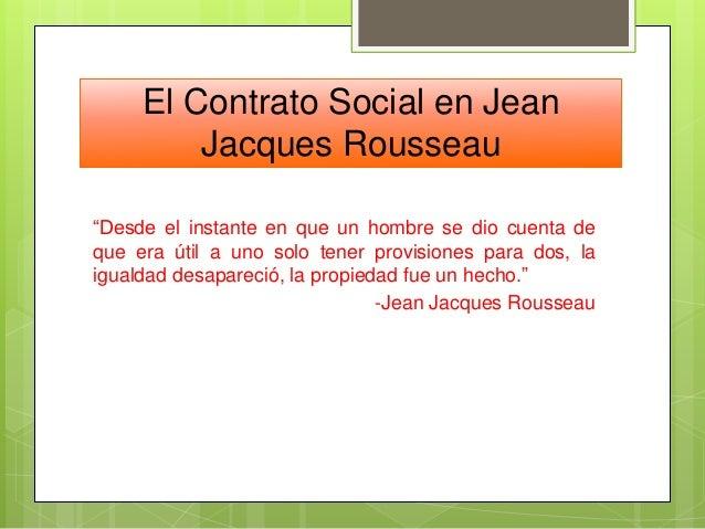 El Contrato Social En Jean Jacques Rousseau