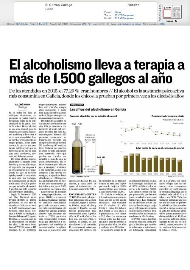 08/10/17El Correo Gallego Galicia Prensa: Diaria Tirada: 27.472 Ejemplares Difusión: 22.735 Ejemplares Página: 12 Sección:...