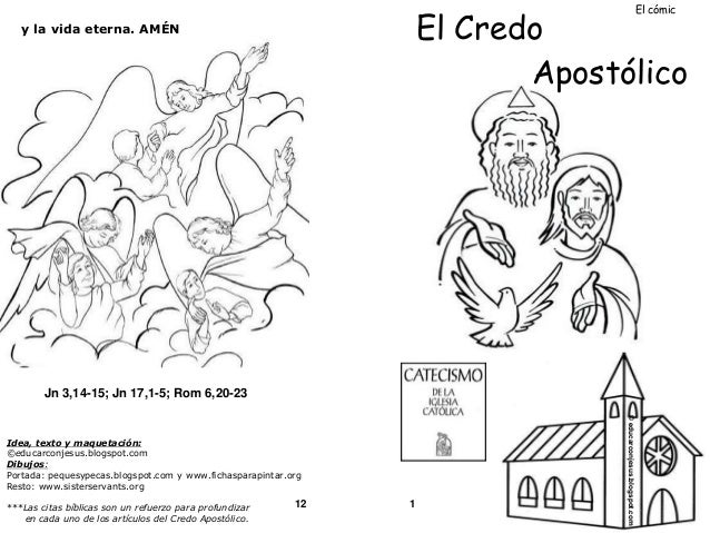 Catequesis Primera Unia N El Credo Para Colorear Espagnol: El Credo Catecismo Catolico Comic