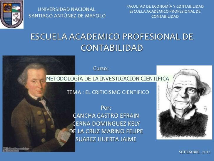 FACULTAD DE ECONOMÍA Y CONTABILIDAD   UNIVERSIDAD NACIONAL            ESCUELA ACADÉMICO PROFESIONAL DESANTIAGO ANTÚNEZ DE ...