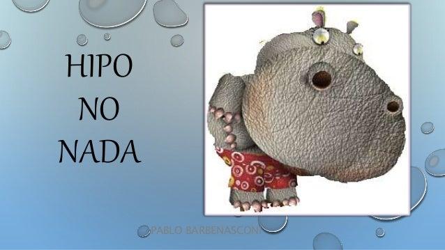 HIPO NO NADA PABLO BARBENASCONI