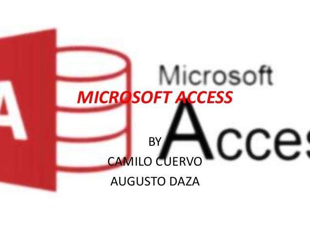 MICROSOFT ACCESS BY CAMILO CUERVO AUGUSTO DAZA
