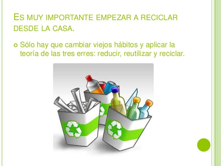 El cuidado del medio ambiente desde el hogar Slide 2