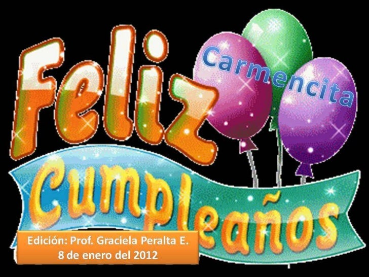 El cumpleaños de mi amiga Carmen 08 01-12