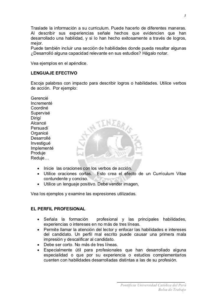 Excelente Verbos De Curriculum Vitae Regalo - Colección De ...