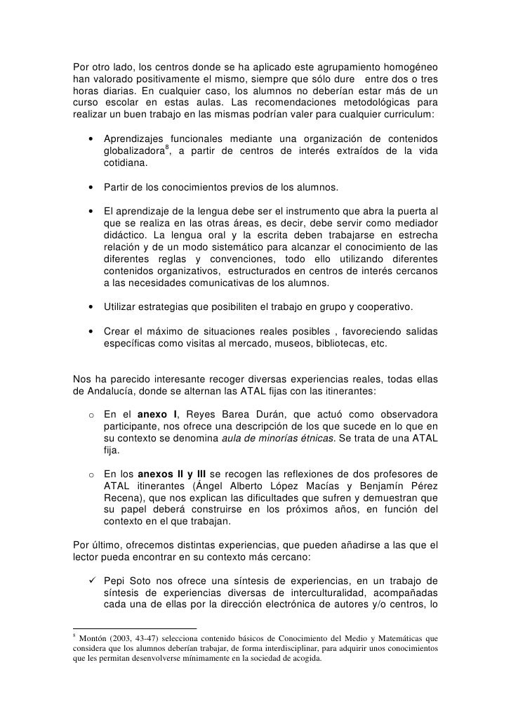 El Curriculum Intercultural Compensatorio En La Accion