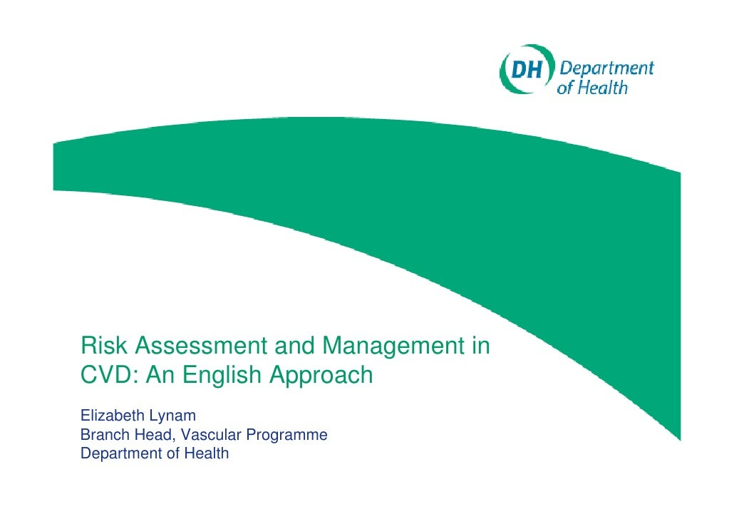 Risk Assessment and Management in CVD: An English Approach Elizabeth Lynam Branch Head, Vascular Programme Department of H...