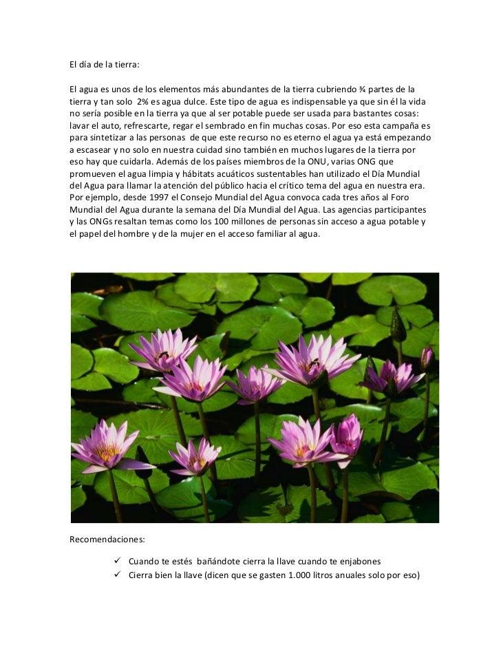 """HYPERLINK """"C:Documents and SettingsSalaMis documentosMis vídeoscon otro título.MSWMM"""" El día de la tierra:<br />El agua e..."""