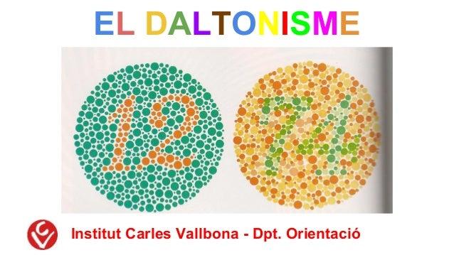 EL DALTONISME Institut Carles Vallbona - Dpt. Orientació