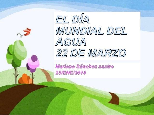 • Hoy 22 de marzo se celebra el Día Mundial del Agua. En estos tiempos el agua esta dejando de ser un recurso aparentement...