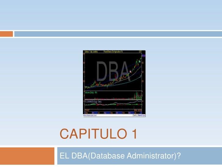 CAPITULO 1<br />EL DBA(DatabaseAdministrator)?<br />
