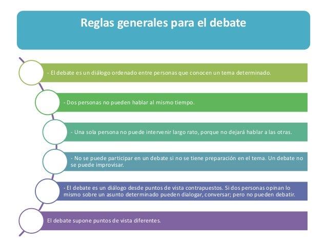 Ideas Para Un Excelente Debate