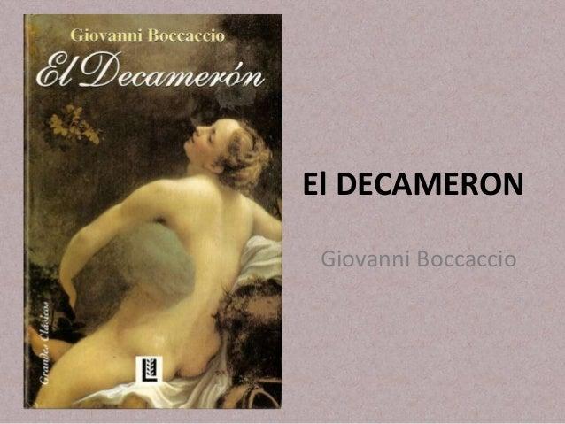 El DECAMERONGiovanni Boccaccio