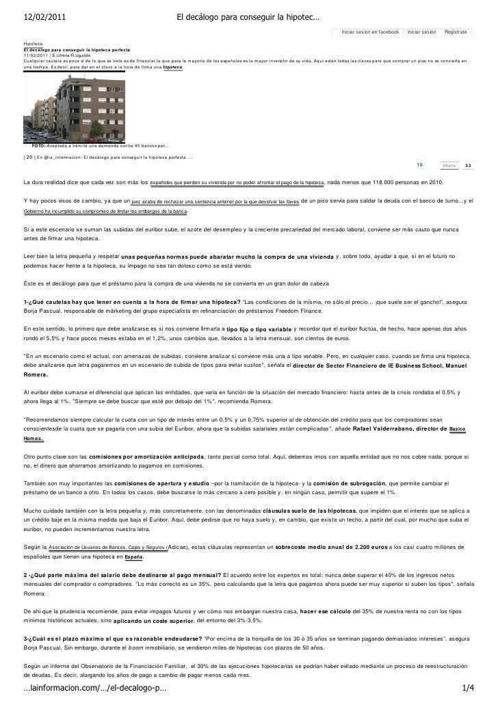 12/02/2011                                                              El decálogo para conseguir la hipotec…            ...