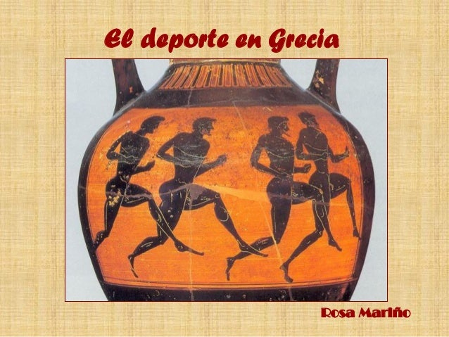 El deporte en Grecia Rosa Mariño