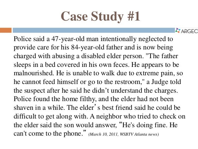 case studies elder abuse australia An overview of elder abuse and neglect in australia journal of elder abuse & neglect: vol 20,  case studies case study mr white.